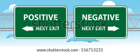 Positive And Negative Signs Street Sign Point to Positive