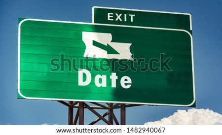 Street Sign the Direction Way to Date