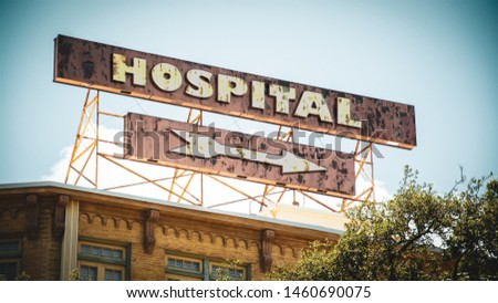 Street Sign the Direction Way to Hospital #1460690075