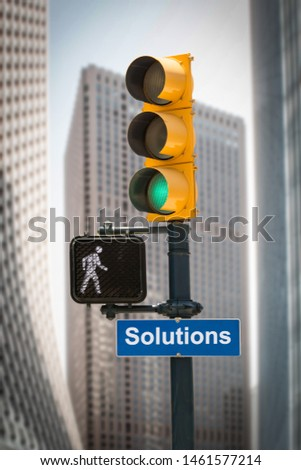 Street Sign the Direction Way to Solutions
