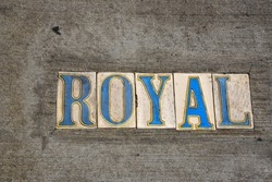 Street sign tile in New Orleans (USA)