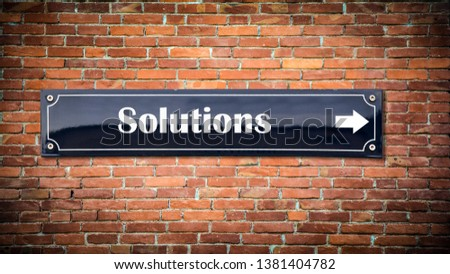 Street Sign to Solutions Way #1381404782