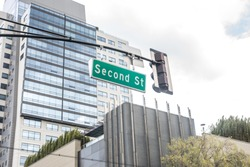Street signs for Second street in San Jose