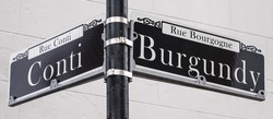 Street signs in New Orleans French Quarter