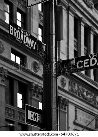 Street signs in New York