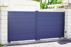 street suburb home grey metal aluminum house gate access door