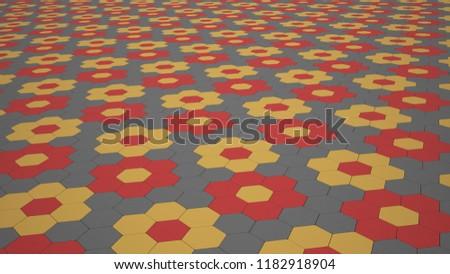 Street tiles 8K, colour street tiles #1182918904