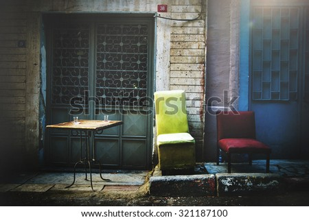 Street Turkey Dirty Messy Grunge House Chairs Concept