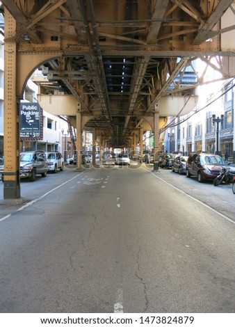 Street under a street in Chicago, USA.