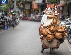 Street vendor in Hanoi, Vietnam
