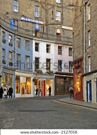 street view in Edinburgh