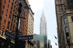 Street view of the Chrisler building in New York