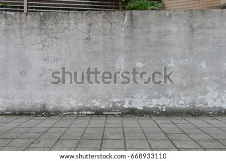 street wall background ,Industrial background, empty grunge urban street with warehouse brick wall #668933110