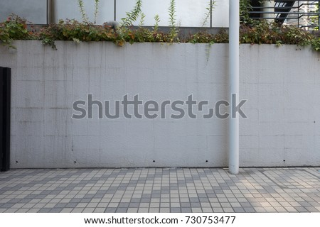 street wall background ,Industrial background, empty grunge urban street with warehouse brick wall #730753477