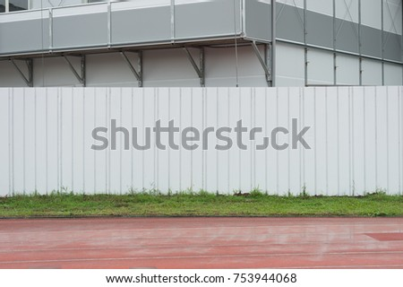 street wall background ,Industrial background, empty grunge urban street with warehouse brick wall #753944068
