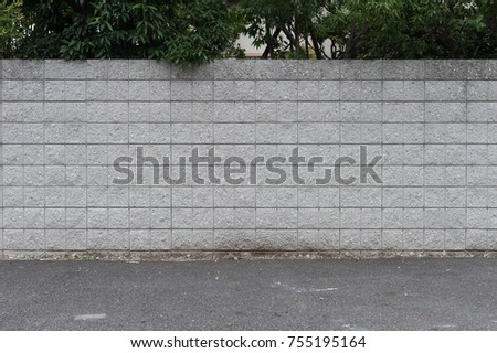 street wall background ,Industrial background, empty grunge urban street with warehouse brick wall #755195164