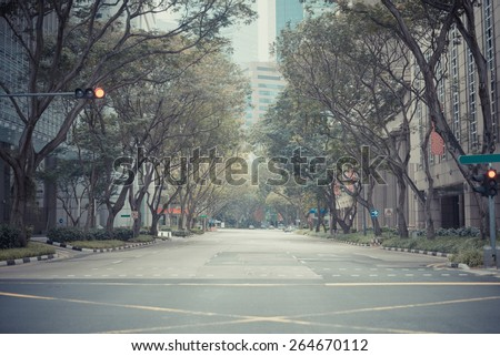 street with film tone
