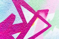 Streetart : painted wall in a street