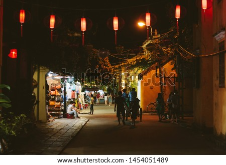 Streets of Ancient Town of Hoi An at night