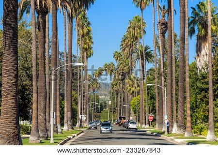 Streets of Beverly Hills, California Stockfoto ©