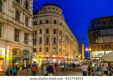 streets of Budapest in Hungary Stock fotó ©