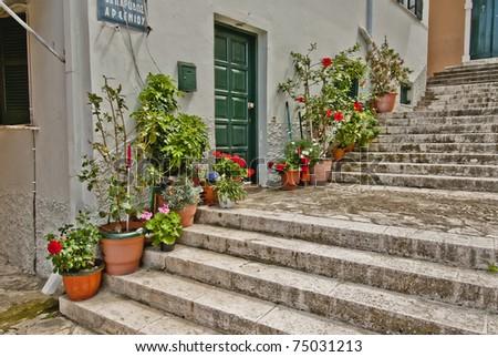 Streets of Corfu city (Kerkyra), Greece