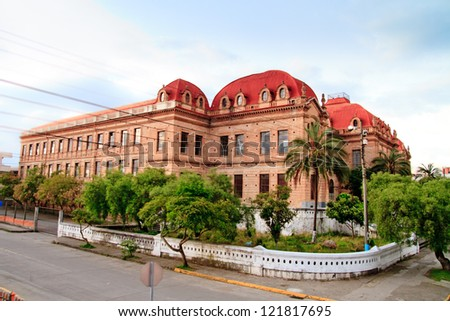 Streets of Cuenca Ecuador Beningno Malo historic Building
