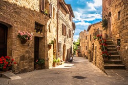 streets of Italian city, Tuscany, Italy