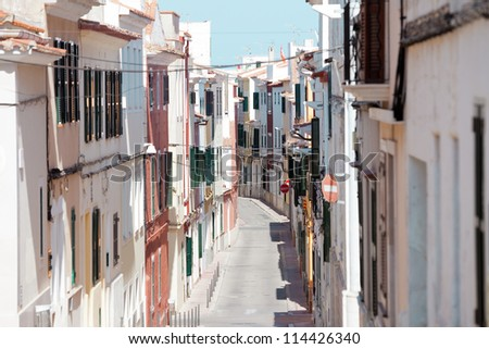 Streets of Mao - Mahon - Menorca - Balearic islands - Spain