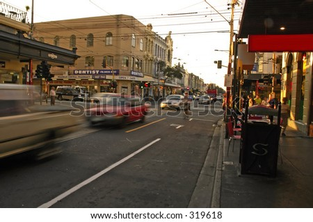Streets of Melbourne city