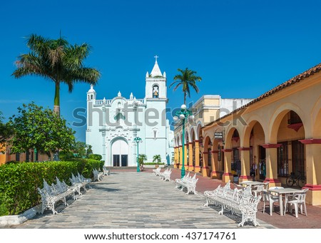 Shutterstock Streets of mexican colonial town Tlacotalpan, UNESCO World Heritage Site