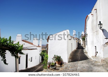 Streets of Monsaraz village, Portugal