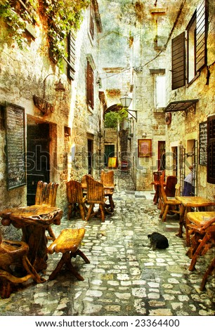 streets of old croatia  ...
