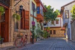 Streets of old town Kaleici - Antalya, Turkey.