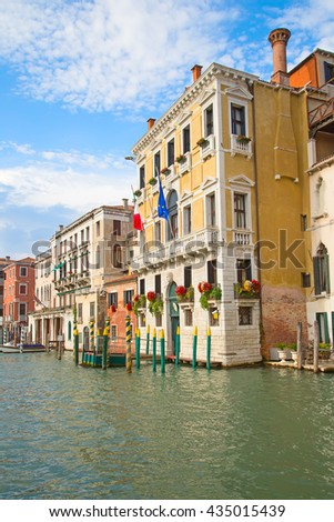 Streets of the ancient city Venice, Italy #435015439