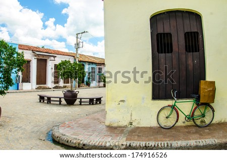 Streets views from Camaguey, Cuba stock photo