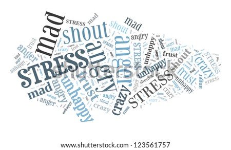 Stress in word collage