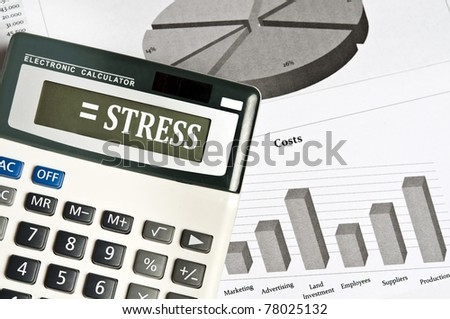 Stress word on electronic calculator