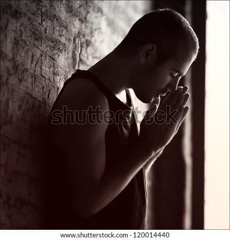 stressed man. emotion portrait