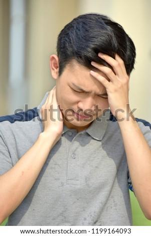 Stressful Teen Boy #1199164093