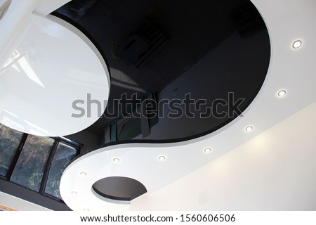 Photo of  stretch ceilings, kitchen interior, country house bedrooms