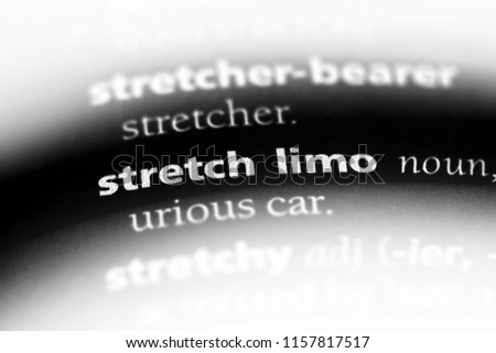 stretch limo word in a dictionary. stretch limo concept.