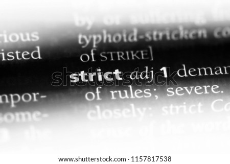 strict word in a dictionary. strict concept. #1157817538