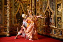 STRICTLY KHON DANCING (Benjakai): PERFORMERS of one of Thailand's most highly regarded dances are keeping the tradition alive, despite the recent decline in popularity of the art form,Thailand
