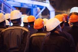 Strike of workers in heavy industry