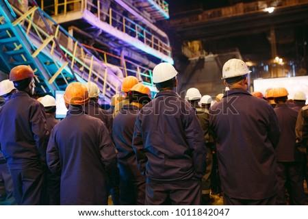 Strike of workers in heavy industry. Foto stock ©
