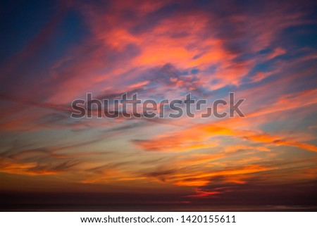 Striking cloudscape during late sunset #1420155611