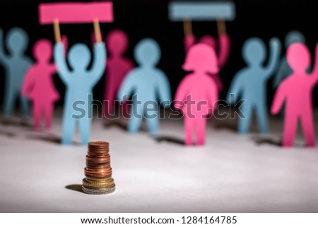 Striking people, bought for money. Paper people. Venal people