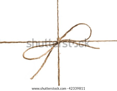 string is on white background