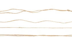 String, rope isolated on white background texture, top view
